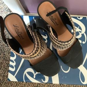 Lucky Brand Navy Blue Platform Wedges Size 7